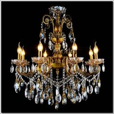 Meerosee lighting meerosee on pinterest fashion big crystal chandelier lighting fixture antique brass color large hanging light fitting bronze color for foyer hallwaychina mainland aloadofball Image collections