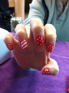 Christmas CND Shellac Nail Art on Pinterest | Cnd Shellac, Christmas ...