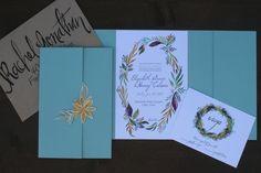 Handmade Wedding Invitation. Handpainted Wedding Invitation. Botanical Wedding. Watercolor Wedding Invitation.JPG