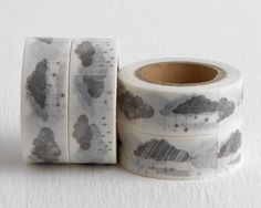 Hey, I found this really awesome Etsy listing at https://www.etsy.com/listing/247884803/gray-raincloud-washi-tape-monochrome