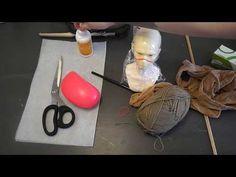 How To - Doll's Hair | yarn wefts for doll طريقة عمل شعر الدمى - YouTube