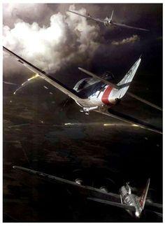 Fw 190 Sturmbock derribando un B-17