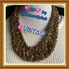 3 X HOST PICK VINTAGE! ⭐️⭐️⭐️⭐️⭐️Chunky elegance! ⭐️⭐️Handmade beaded VINTAGE collar / necklace! ⭐️⭐️Unique and one of a kind!⭐️⭐️️HP DATE NIGHT by Jessica @jml2255⭐️⭐️⭐️ HP Winter Vibes by @huesofpink  Vintage Jewelry