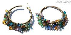 Swarovski & Brass Earrings