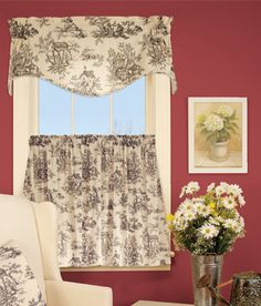 Lenoxdale Toile Tier Curtains - My room and bedroom