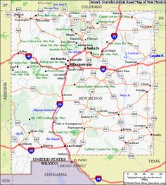 Map Of State Of New Mexico With Outline Of The State Cities - Us map new mexico