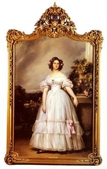 Portrait of HRH Princess Marie Clementine of Orleans - Franz Xaver Winterhalter