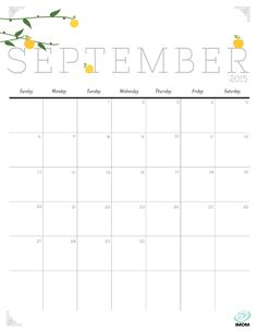 Download iMOM's Free September 2015 printable calendar. Fall is the beginning of busy. Stay on track with our calendar and rekindle a love for this season with our harvest apple design.