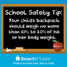 Your child s backpack should weigh no more than 10% to 20% of his or b372201fdc70e