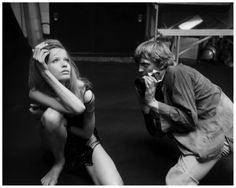 Veruschka Von Lehndorff poses for David Hemmings in their notorious photography scene Blow up – 1966 director Michelangelo