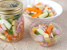 Chinese-style Pickled Cucumbers & Carrots This Chinese-style pickled vegetables is the perfect appetizer dish to complement any Chinese meal, and so unbelievably easy to make! Recently, we have been eating really simple at home on weekdays nights with only one Chinese soup of the day and rice.