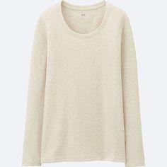 WOMEN Supima Cotton Crew Neck Long Sleeve T-Shirt