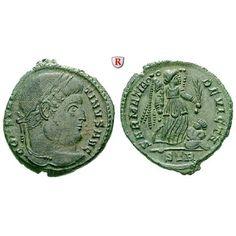Römische Kaiserzeit, Constantinus I., Follis 323-324, vz/vz-st: Constantinus I. 307-337. AE-Follis 19 mm 323-324 Trier.… #coins #numismatics