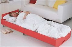 Coffee Table Bed mattress fold-out