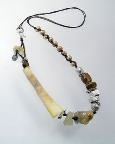 Urban Primitive Amber Muse Necklace OOAK fine by KathyVanKleeck