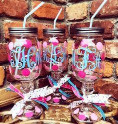 ❉ cute & crafty: how to paint a sorority/preppy mason jar! ❉