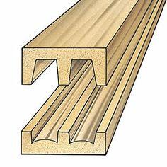 Hardwood Sliding Door Track and Upper Guide (set) Rockler