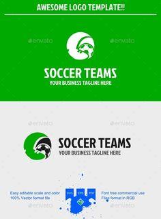 Soccer Logo — Vector EPS #agency #clean • Available here → https://graphicriver.net/item/soccer-logo/9698822?ref=pxcr