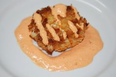 Crab Cake with Red Pepper Aioli