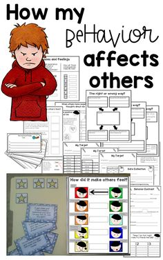 How my behavior affects others. Behavior and social emotion control task cards and activities. This activity helps students understand [. Social Skills Autism, Social Skills Activities, Teaching Social Skills, Counseling Activities, Social Emotional Learning, Anger Management Activities, Counseling Worksheets, Social Skills Lessons, Shape Activities