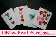 Stitched Heart Valentines: Recycle Artwork to Make Easy and Beautiful Cards!