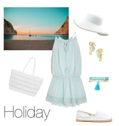 """""""Holiday"""" by nathalie1000000 on Polyvore featuring Elizabeth and James, BUCO, Soludos, Eric Javits, Kate Spade and Charlotte Russe"""