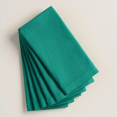 One of my favorite discoveries at WorldMarket.com: Fanfare Teal Buffet Napkins Set of 6
