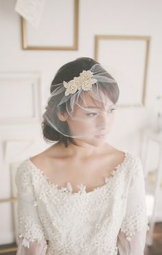 Wedding Veil: This is really pretty, just what I wanted with a short or tea length wedding dress