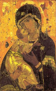 Vladimir icon of the Mother of God, icon of the Virgin Mary and Christ, Theotokos.