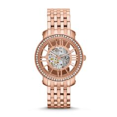 Fossil Limited Edition Three-Hand Mechanical Curiosity Stainless Steel Watch - Rose