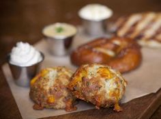 Bacon cheddar biscuits at Manhattan Beach Post- list of places to brunch in LA