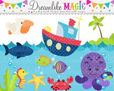 Sealife Sweeties- Clipart for Personal or Commercial Use