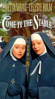 Come to the Stable is a 1949 film starring Loretta Young and Celeste Holm as French nuns come to America to build a children's hospital. Stars Elsa Lanchester as a painter of religious pictures. It is set in Bethlehem, PA. One of my favs. Old Movies, Vintage Movies, Great Movies, 1940s Movies, Christmas Shows, Christmas Movies, Holiday Movies, Christmas Time, Hallmark Christmas