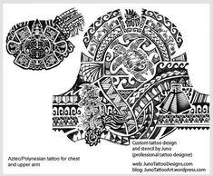 aztec polynesian tattoo, chest tattoo, samoan turtle tattoo #samoantattooschest #polynesiantattooschest #polynesiantattoosturtle