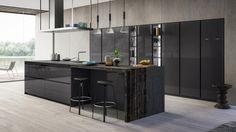 Dapur modern oleh atelier casa s. Luxury Kitchen Design, Best Kitchen Designs, Interior Design Living Room, Küchen Design, House Design, Design Ideas, Kitchen Furniture, Kitchen Decor, Modern Home Bar