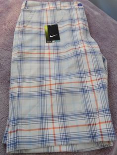 Nike Womens Golf Shorts, Modern Rise, Plaid, Size 16, New With Tags #Nike