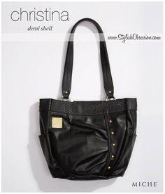 b4100042f7  Miche - Christina Demi Shell Black Purses