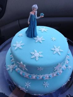 Looking for cake decorating project inspiration? Check out Elsa Frozen Birthday Cake by member poakley643950646.
