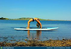 """#Yoga Poses Around the World: """"When water and a Sup Board become your best yoga floor."""""""