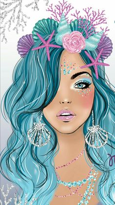 I am amazed Unicorns And Mermaids, Mermaids And Mermen, Mermaid Drawings, Mermaid Art, Mermaid Wallpapers, Cute Wallpapers, Mermaid Pictures, Unicorn Art, Cute Drawings