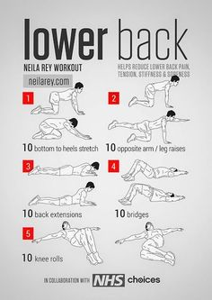 Why You Could Be Experiencing Back Pain Lower Back Workout Helps reduce lower back pain, tension, stiffness & soreness. Neila Rey Lower Back Workout Helps reduce lower back pain, tension, stiffness & soreness. Fitness Workouts, At Home Workouts, Easy Fitness, Ab Workouts, Chest Workouts, Gym Fitness, Fitness Goals, Neila Rey Workout, Lower Back Exercises