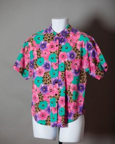 A personal favorite from my Etsy shop https://www.etsy.com/listing/544115850/vintage-80s-floral-pattern-top-casey-max