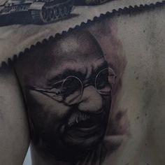 Repost : @ovi.tattoo.art back in progress Gandhi portrait  @jampotattoobutter @pro_t_ink @seven_tattoo_supply done with @worldfamousink @fkirons  #worldfamousink #silvanofiatoblackwashset #gandhi #realistictattoo #realistic #blackngrey #romaniantattooartist #tatuaje #tatuaż #tatuagem #tatouage #纹身  #skinart #inked #inkedmag #torino @skinart_mag @realistic.ink @tattoorealistic @realistictattoos @bestrealistictattoos #protink #sponsored