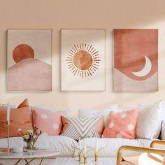 Diy Canvas Art, Diy Wall Art, Wall Canvas, Wall Art Decor, Wall Art Prints, Art Diy, Simple Wall Art, Art Deco Wall Art, Wall Art Sets