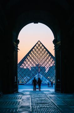 Sunset at the Louvre, Paris France