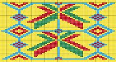 a few errors in the pattern, needs an extra yellow row on the far right for 184 if repeated twice, which is a 23 increase bottom