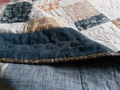 Border and binding detail - Persimmon quilt