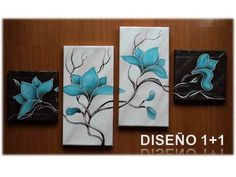 Cuadros Diseño 1+1 Multiple Canvas Paintings, Texture Painting On Canvas, Clay Wall Art, Canvas Wall Art, Butterfly Painting, Panel Art, Leaf Art, Diy Painting, Art Pictures