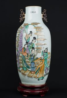 China 19. Jh. A Large Chinese Famille Rose Porcelain Vase - Qing Cinese Chinois