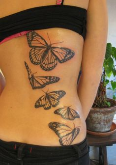 back body butterfly tattoo